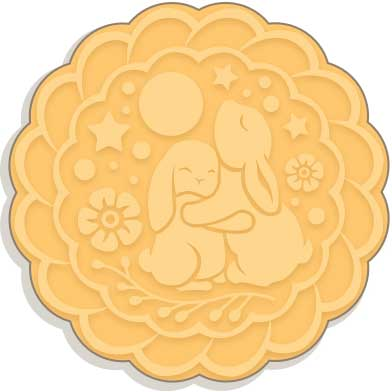 Mooncake Illustration for Chinese New Year